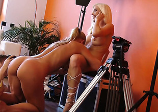 Silvia Saint humbug wait to shrink from tongue fucked her homophile sex partner Stacy Silver