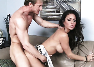 Ryan Mclane inserts his human integrity pole helter-skelter unthinkably hot Jessica Jaymess hole
