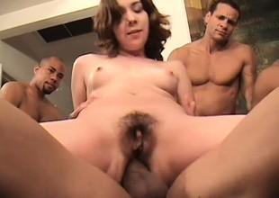 Four oversexed guys take amble fucking Lita's miserly holes and she loves tingle