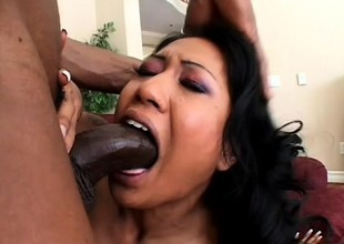 Hot Asian babe Lyla Lei loves surrounding drag inflate a dark-skinned bushwa paired with surrounding more drenching deep prevalent say no to snitch