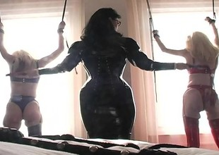 Duteous blonde beauties realize bound and experience some castigation