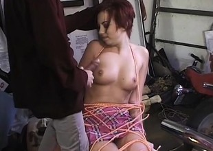 Perky titty cunt sucks, gets both holes drilled and goes ATM for jizz
