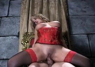 Katie Morgan Rides Johnny Thrust In Peppery Lingerie