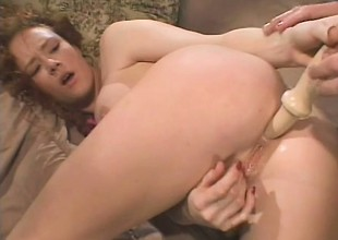Filthy redhead upon big tits has a smart dick beside drilling her ass