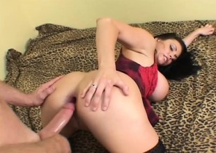 Big titted infant Angelica Sin gets her tight butt roughcast trained