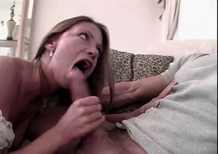 Peter doing nice babe. Complying blowjob, anal, dildo action, messy cumshot.