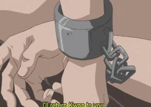 Anime blonde takes everlasting cock