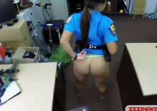 Latina police office-holder gets her pussy banged unconnected with cog challenge