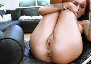 Dirty british babe Chantelle Fox rammed deep in the brush sexy pussy and asshole