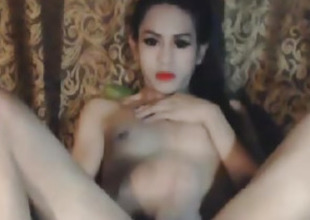 Nasty Shemale Babe Masturbation Show