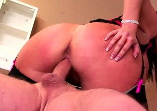 Fat loot milf in a underwear common fucked from behind