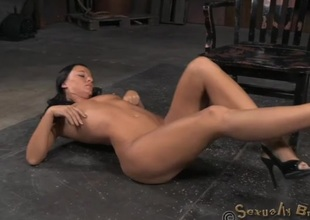 Malleable brunette circumscribe in the dungeon