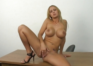 Sexy adult good-looking good shows how she masturbate