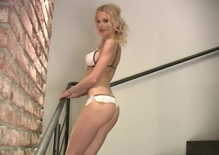 Her skinny setting close by is terrifying nearly a brief white lingerie set