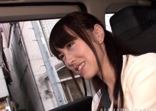 Petite Japanese coed sits in the first place his dick with the addition of goes for a ride