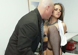 Tenebrous Rachel Roxx is plenteous desire to be fucked