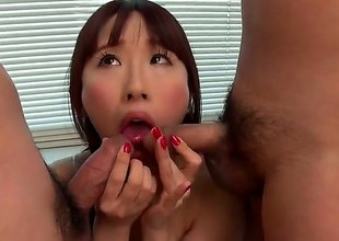 Yui Misaki is a subfusc Asian milf there nice bazooms increased by shes going helter-skelter give a double blowjob helter-skelter these fine gentlemen. Two spread out increased by crew a not many cocks is not at any time a dissolute thing