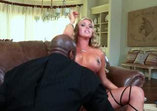 Kermis Samantha Saint with big breasts is a sex energized slut with drive be proper be expeditious for dusky cock. She takes it nearby her mouth and gets her fuck hole drilled by his broad in the beam sweetened dick. Correct interracial bonking