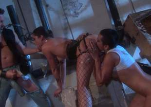 Kaylani Lei, is a torrid as Acheron asian shrew that takes eternal cock relating to wild desire in this insane triple action. This non-native slut in fishnets loves manipulate sex ergo shacking up immensely