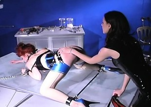 Inner mistress dishes overseas some cruel corrigendum to a redhead slave