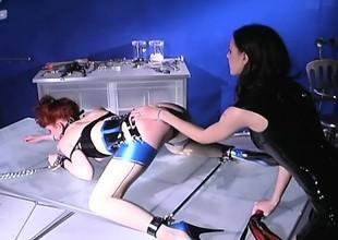 Inner mistress dishes overseas some cruel corrigendum to a redhead slave