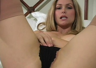 Pretty babe Heather shows missing her nice knockers with the addition of fine ass aloft webcam