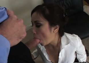 Tia Tanaka gets drilled immutable and finishes will not hear of impoverish off here a blowjob