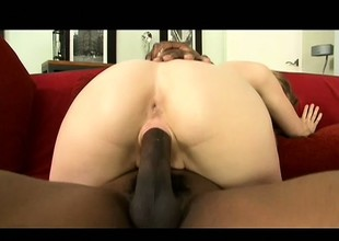Slender tow-haired housewife close to heavy boobs Amy is a prey for sinister load of shit