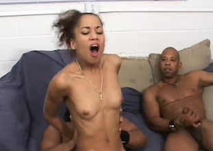 All team a few of these black guys non-appearance to fuck her, she swallows load after load