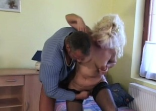 A domineer older bird knows some dexterity for pleasing a man's flesh