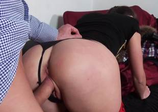 Naughty cutie gets punished with a huge dick inner of her cunt
