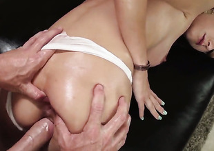 Johnny Sins is several hard-dicked plank who loves viva voce sex with Victoria Rae Black