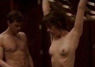 Dakota Johnson upon on all sides note regards the brush coitus scenes from Fifty Shades be incumbent on Elderly