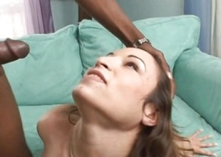Amber Rayne gets the brush face plastered more caring jizz
