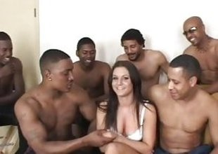 Ariana Jollee black load of shit gangbang