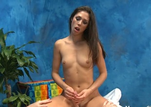 Wicked angel in titillating underware licks dick inserts colour up rinse in cookie