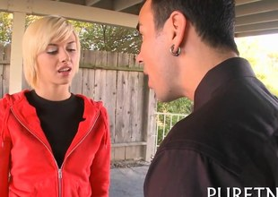 Blonde teen helter-skelter small interior riding the biggest boner shes seen
