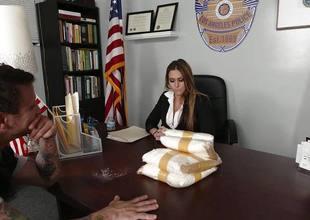 Rachel Roxx gets naughty regarding the officer