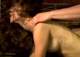 Hot erection pornstar Jenni Lee pounded at bottom hard