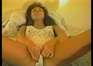 Anorectic cougar in all directions stockings anal toys to the fore being docile cowgirl style