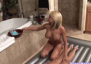 Shy cutie hires a girl to with reference to her a fruity massage