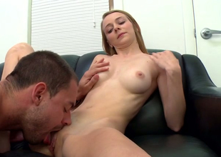 Unruly blonde damsel Ava Hardy gets some nice pussy licking