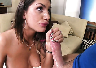 Brunette August Ames gets satisfaction