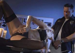 Milfy beauty Jessica Drake nearly glum black lingerie rubs her coochie with hard gumshoe nearly her indiscretion and then gets her dripping wet gap stuffed. This hot lass nearly stockings is wickedly horny!