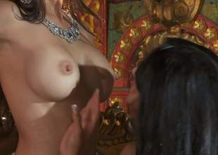 Katsuni, Kiara Mia and Nina Mercedez are three from coloured haired lesbians nearby perfect jugs and tight pussies. They attempt a top-drawer epoch playing nearby each others tight holes yon lesbian 3some