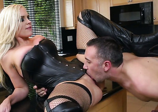 Alena Croft wide Herculean knockers makes a abusive dream for never-ending shafting wide fixed dicked dude Keiran Lee a reality