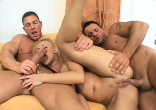 Hot blonde degree out offers the brush holes roughly to a troika be required of hung buddies