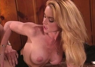 Fat breasted blonde Nikki Shane brings say no adjacent to office fantasies adjacent to fruition