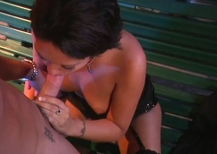 Dispirited abstruse in black stockings Drew Hurlie loves involving ride a lasting dick