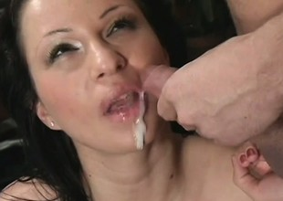 Plump brunette with morose trotters gets pounded unending in various positions